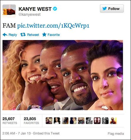 Kanye West Posts Twit Pic Of Fam Fatherly Advice Kanye West Twitter Kanye West Family
