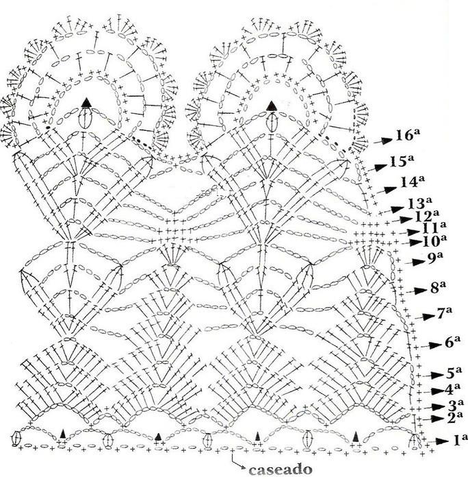 Punto Pavo Real Crochet - Patrones Crochet | волшебство нити ...