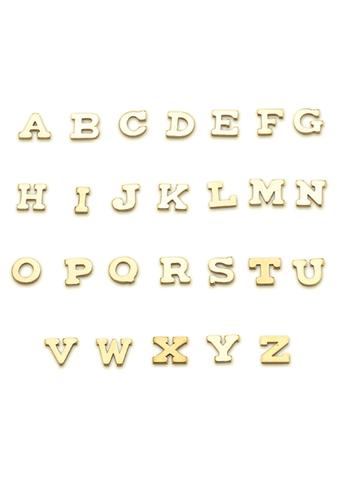 Large Solid 14k Gold Initial Stud Earrings Belladaar