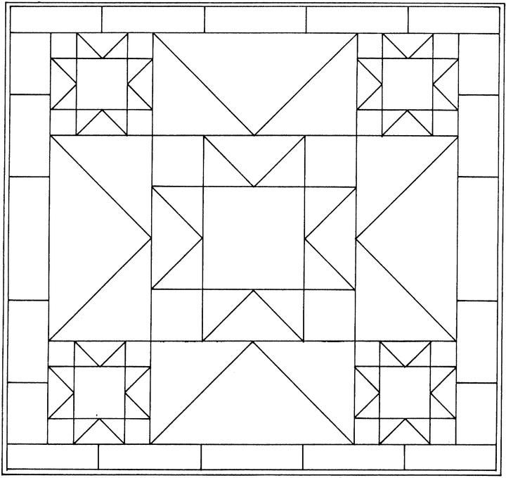 Geometric Shapes Cartoon Coloring Page Barn Quilt Patterns Painted Barn Quilts Barn Quilt Designs