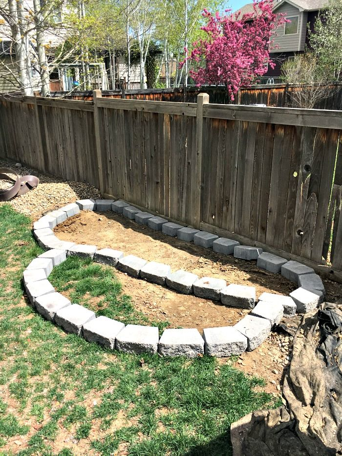 How To Build A Raised Garden with Pavers Building a