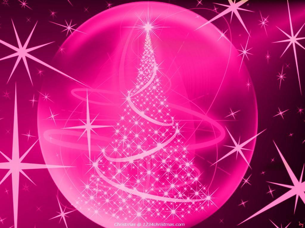 Pink Christmas Tree Desktop Wallpaper | Christmas Tree Wallpapers ...
