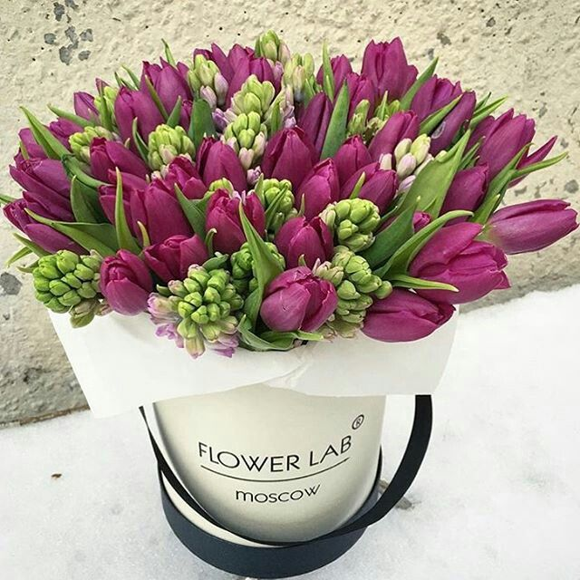 Tulip & Hyacinth bouquet | Flower | Pinterest | Hyacinth bouquet ...