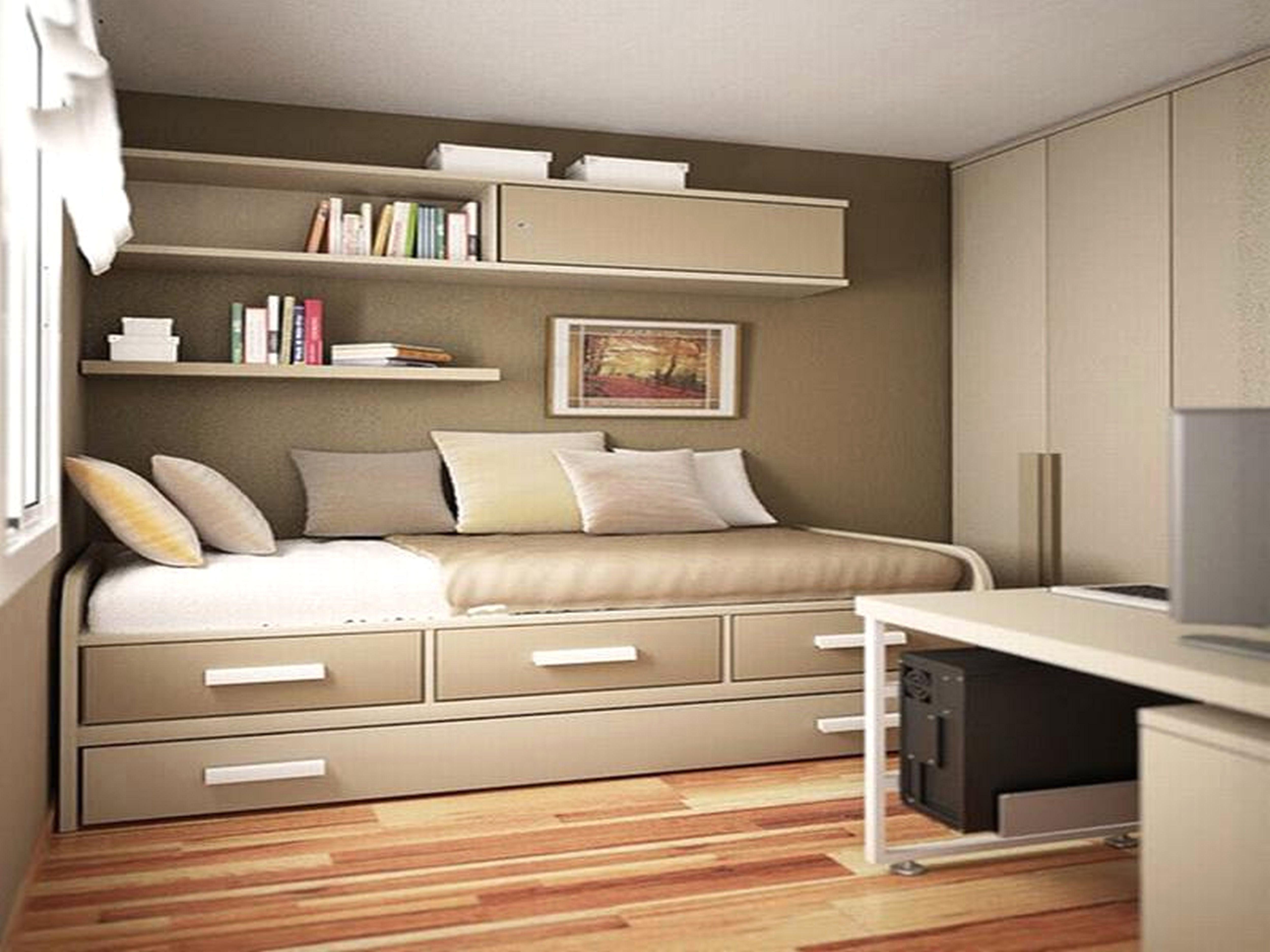 Small Bedroom Single Bed Ideas  Small bedroom storage, Small room