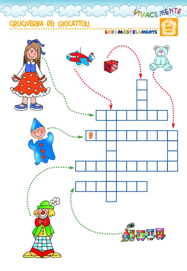 Pin di sara rigamonti su scuola italiano giochi for Cruciverba facili per bambini
