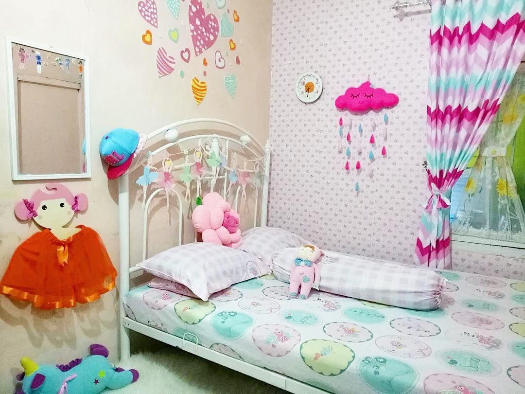 desain kamar tidur anak perempuan ukuran kecil | dekorasi kamar