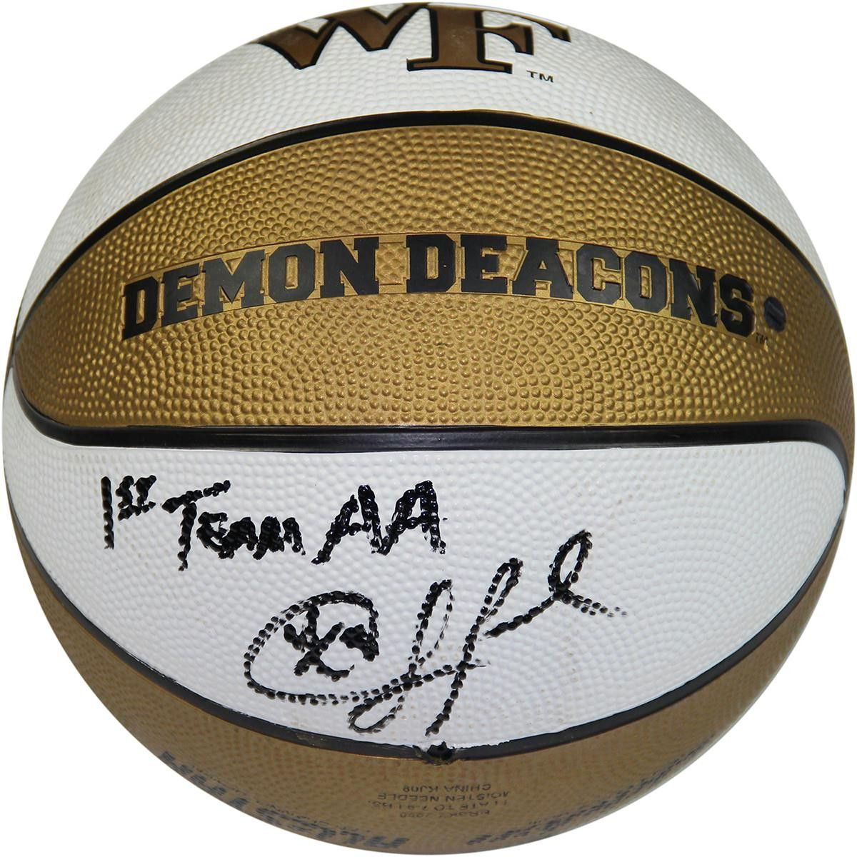 Chris Paul Signed Wake Forest Rubber Full Size Basketball w 1st Team AA Insc.