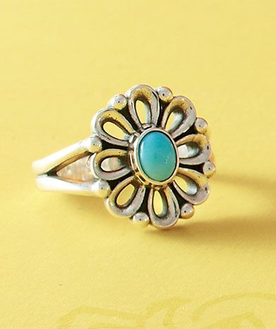 b86dc5fb2 De Flores Ring with Turquoise #JamesAvery | Accessorize!
