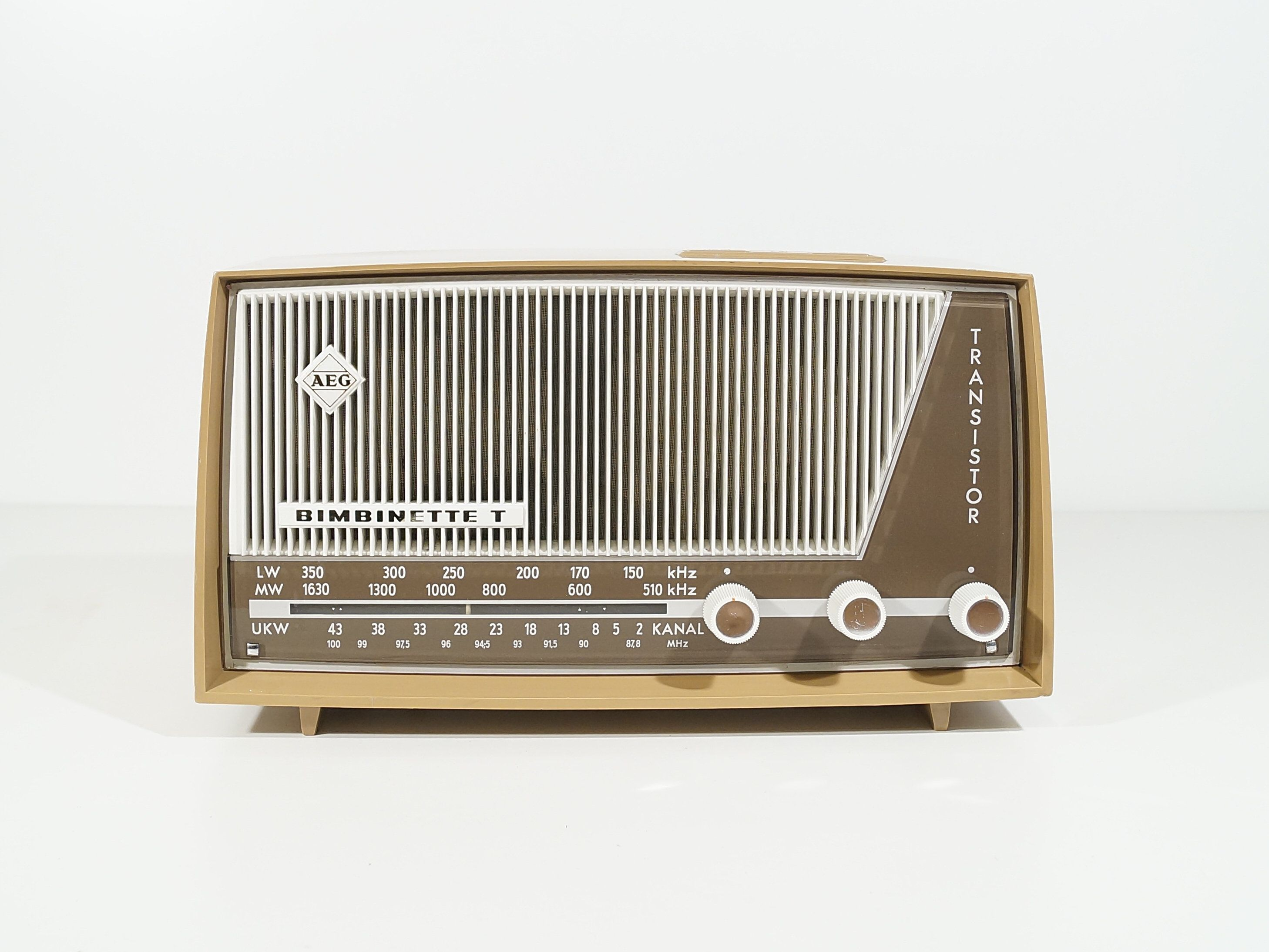 Transistor Radio Aeg Bimbinette T W Germany 1962 Vintage