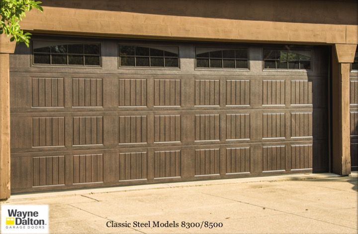 Wayne dalton 8300 8500 garage doors faux wood finish for Garage door finishes