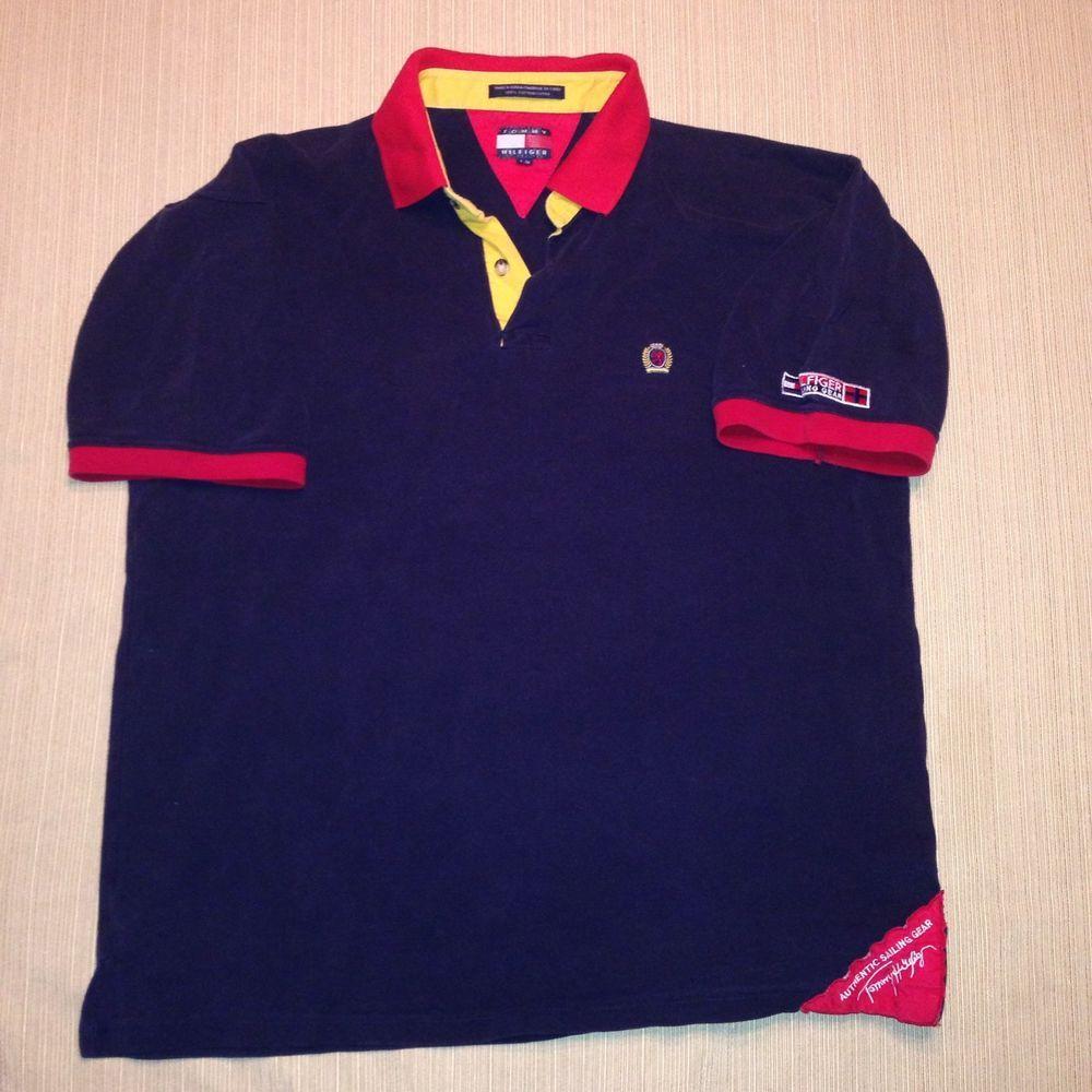 1990s Tommy Hilfiger Polo T shirt L