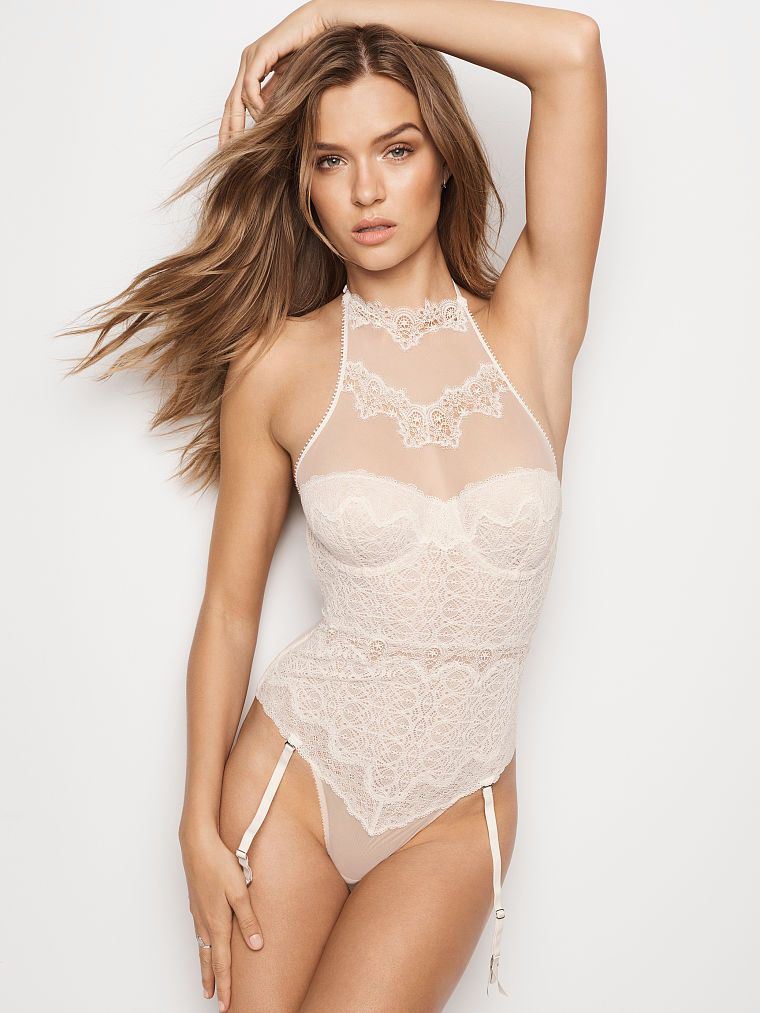 b79d898695 Chantilly Lace High-neck Teddy - Dream Angels - Victoria s Secret ...