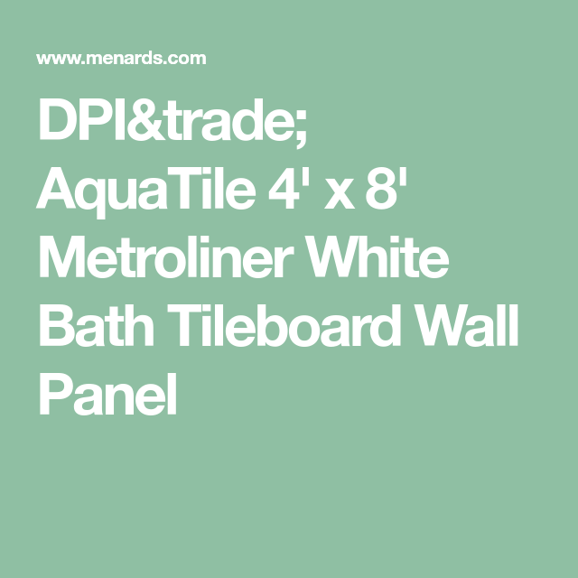 DPI AquaTile X Metroliner White Bath Tileboard Wall Panel - Aquatile wall panels