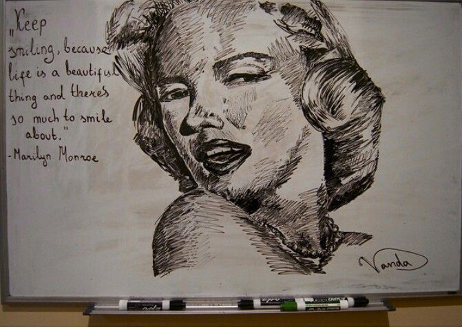 Expo marker drawing Marilyn Monroe | Expo Marker Drawings/ Dry Erase