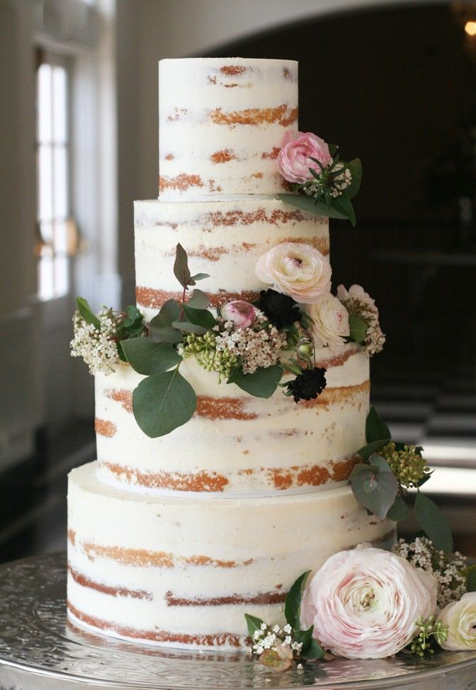 erica obrien cake design naked cake Rustic Wedding Cakes