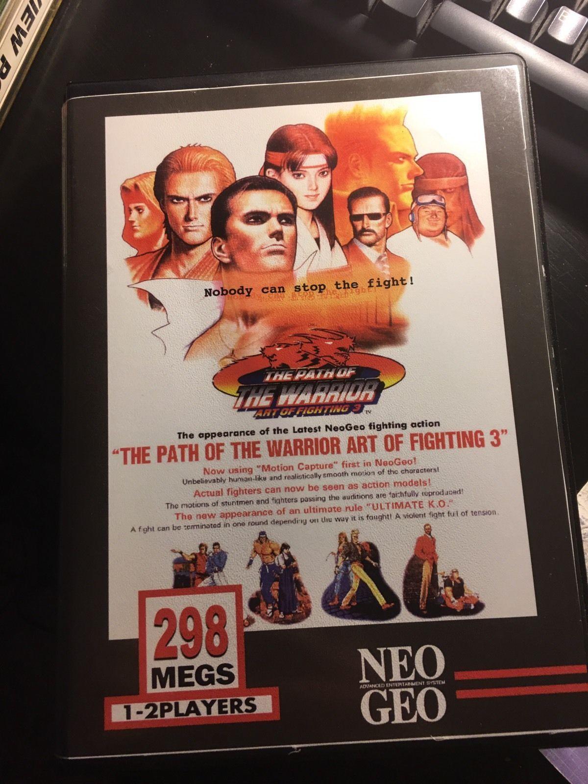 Art Of Fighting 3 Cart And Shock Box Neo Geo Mvs Art Of Fighting