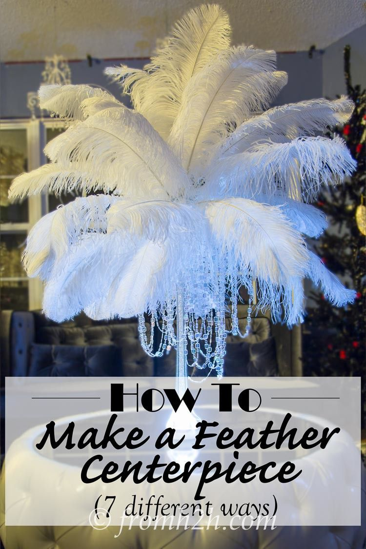 diy how to make ostrich feather centerpieces plus 7 variations feather centerpieces. Black Bedroom Furniture Sets. Home Design Ideas