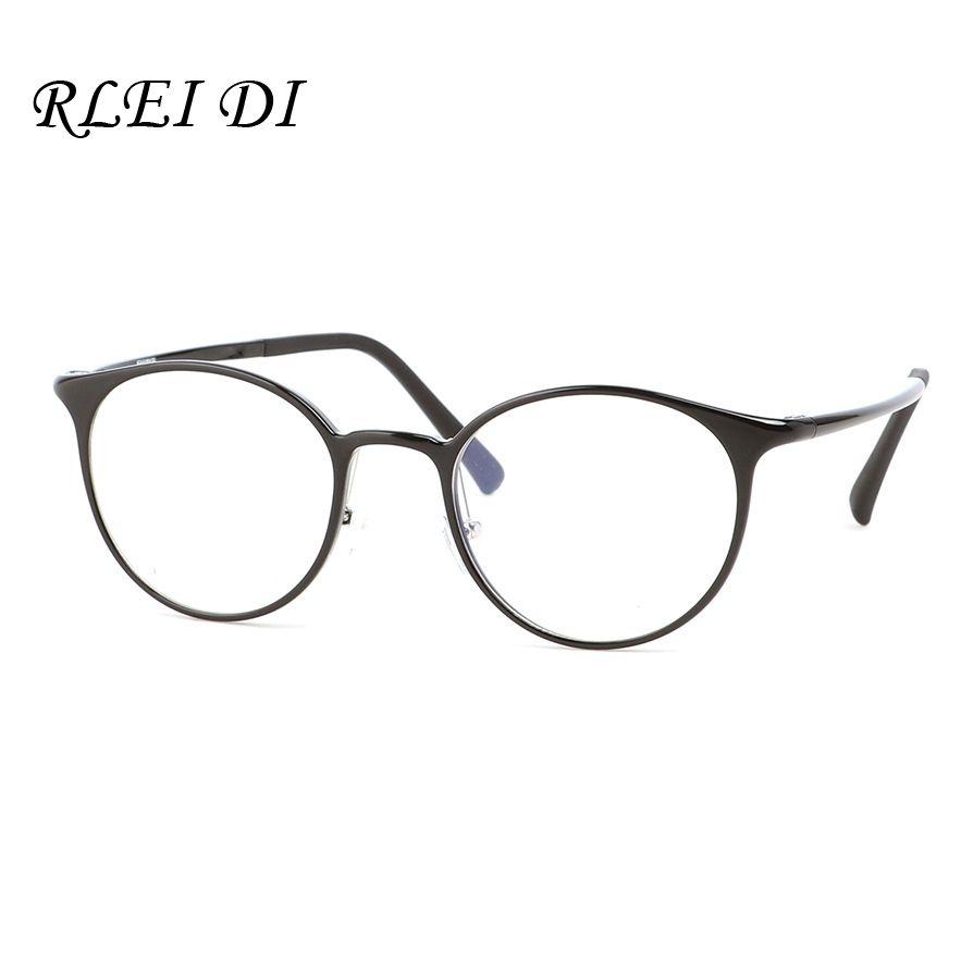 49476cc15eb Ultra Light Carbon Plastic Steel Glasses Frames Round Carbon Fiber Women Men  Myopia Optical Transparent Glasses