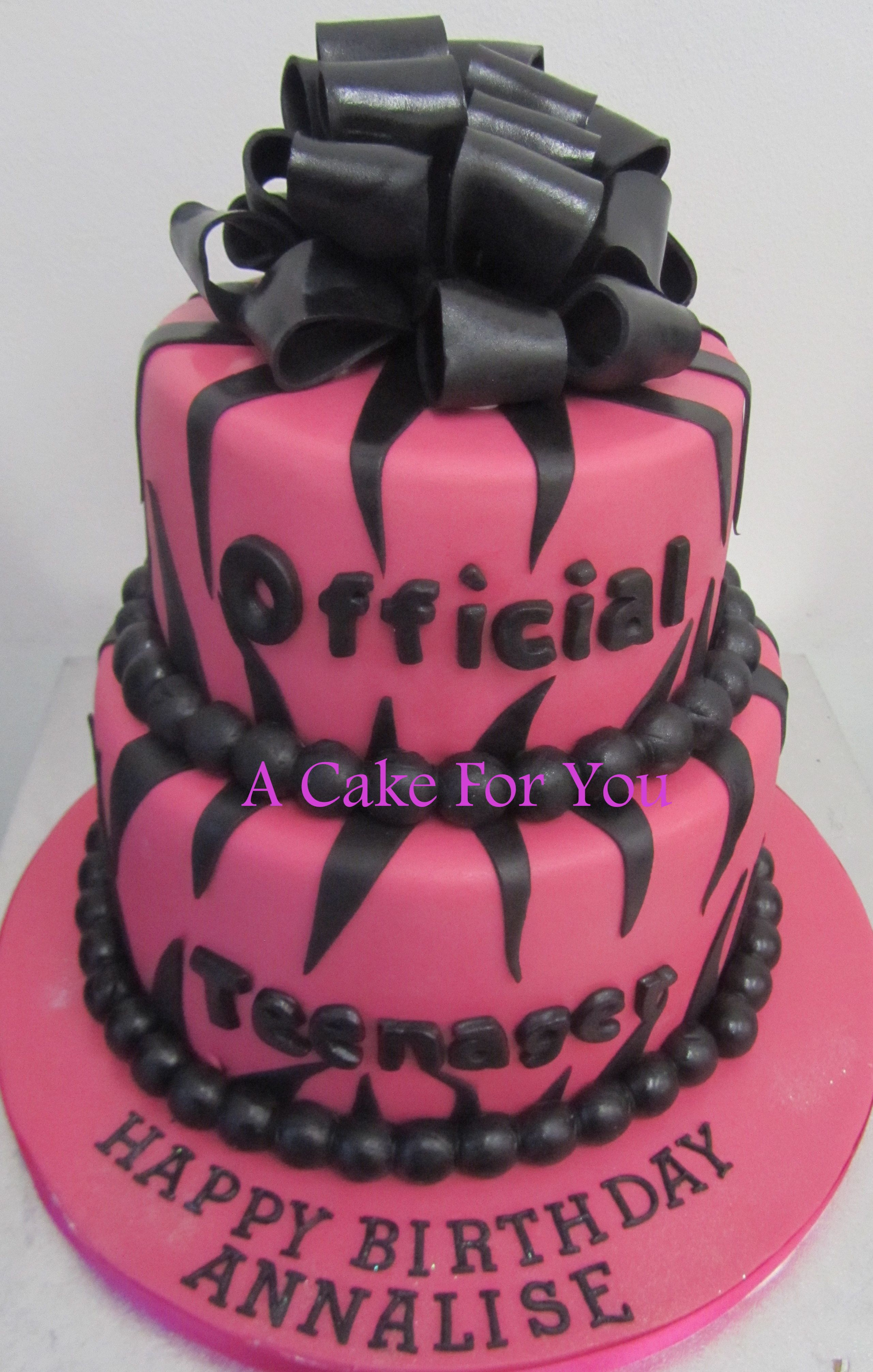 Official Teenager Cake Follow Us For More Amazing Cakes