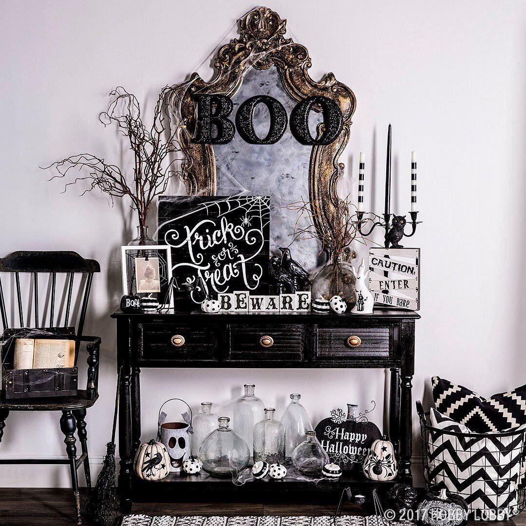4,006 Likes, 63 Comments - Hobby Lobby (@hobbylobby) on Instagram - black and white halloween decorations