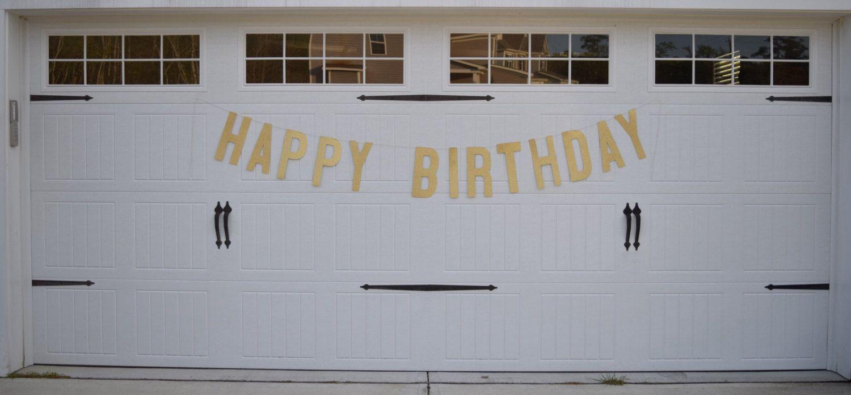 HAPPY BIRTHDAY BANNER | 11.5 Inch Letters | Gold Glitter Happy Birthday Banner | Gold Happy Birthday Sign | Happy 30th Birthday #21stbirthdaysigns