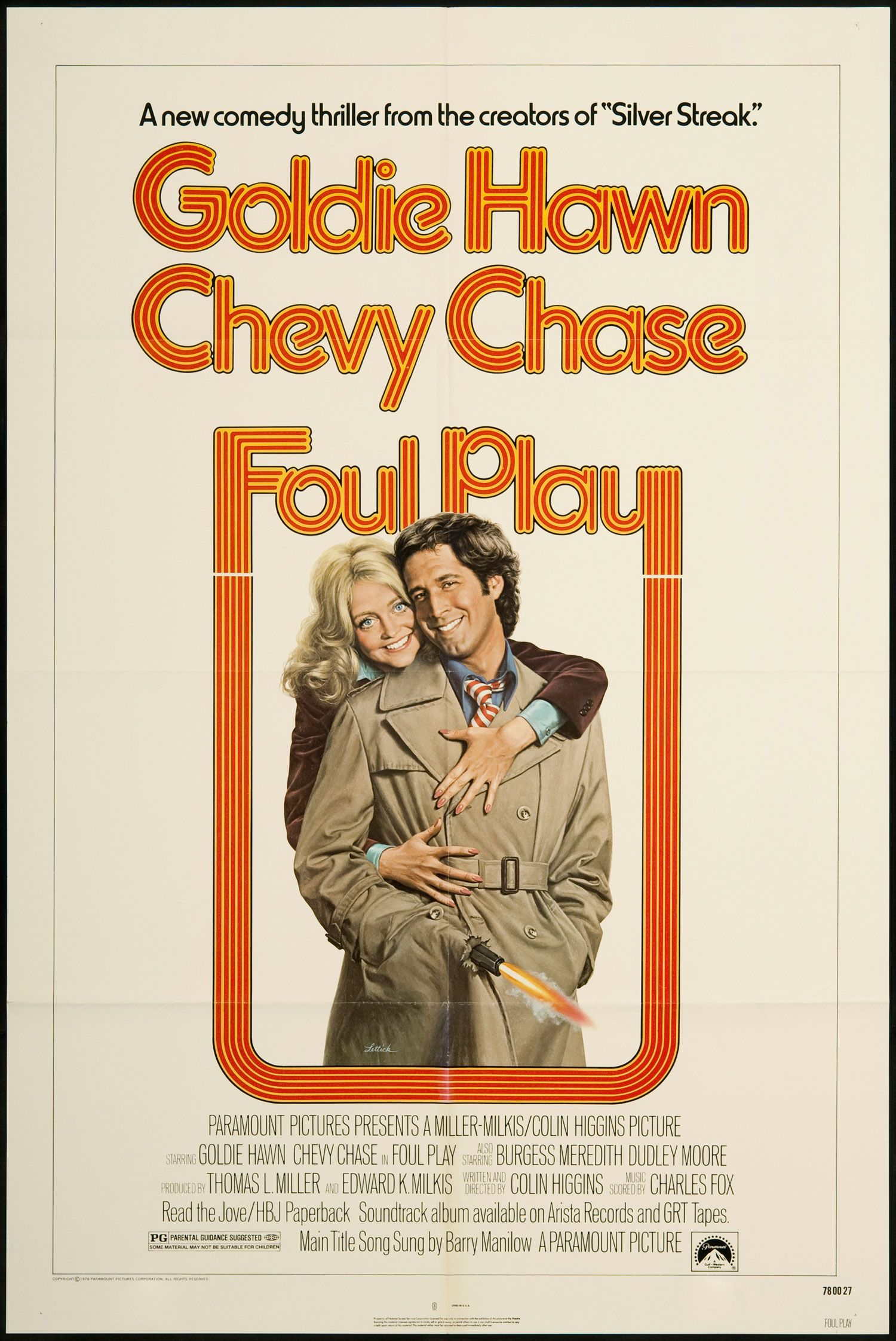 """1978's """"Foul Play"""" Foul play, New comedies, Movie posters"""