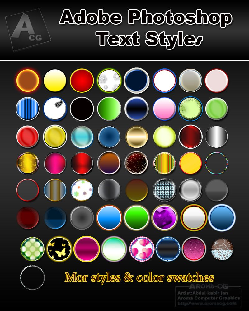 Collection of color palettes photoshop for ui designs web3canvas - Style 1 Aroma Cg Style 2 Color Swatch Ps Aroma Cg By