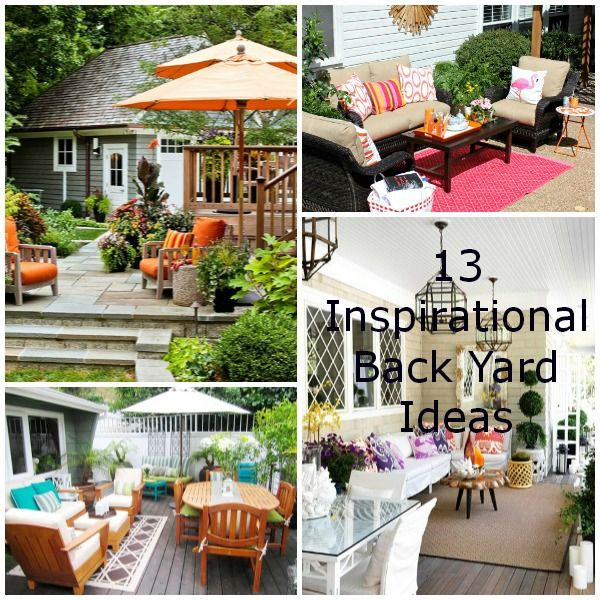 13 Inspirational Back Yard Ideas -- Warm weather will be here before we know it and we'll all be spending more time outside. If your yard could use some sprucing up like mine, have a look at the back yard ideas that'll give you some inspiration.