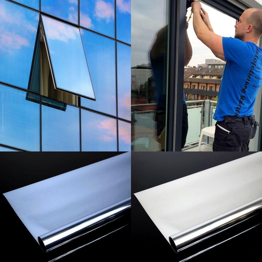 Details Zu 5 49 M Spiegelfolie Fensterfolie Spiegel Folie Fenster Glas Scheiben Spion Uv Fensterfolie Spiegel Folie Haus Jalousien