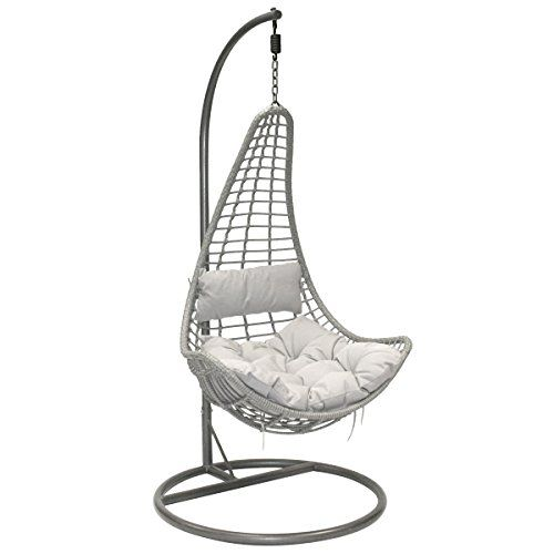 Charles Bentley Garden Patio Outdoor Grey Rattan Hanging ... https ...