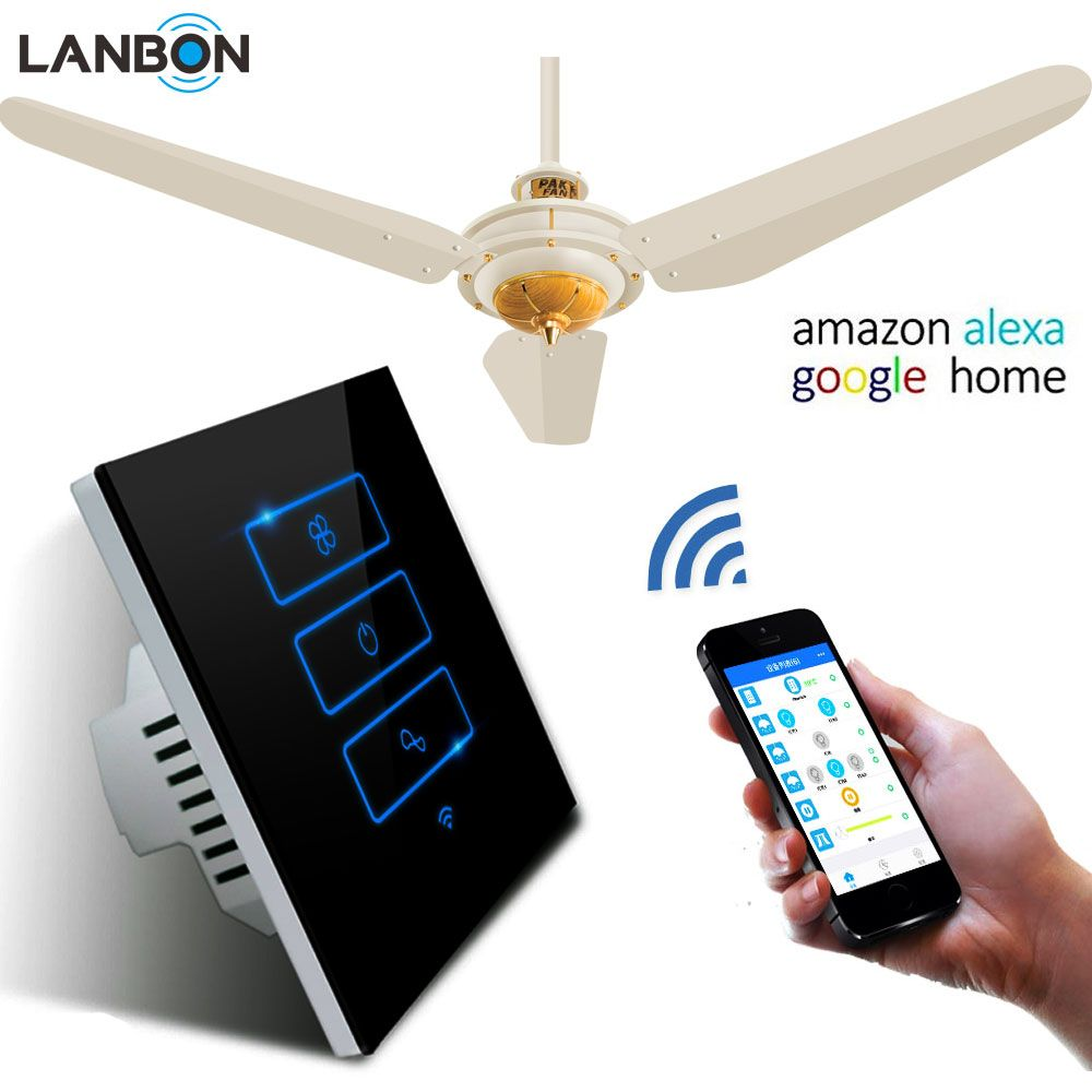 High quality factory remote control fan switch smart wifi wall touch