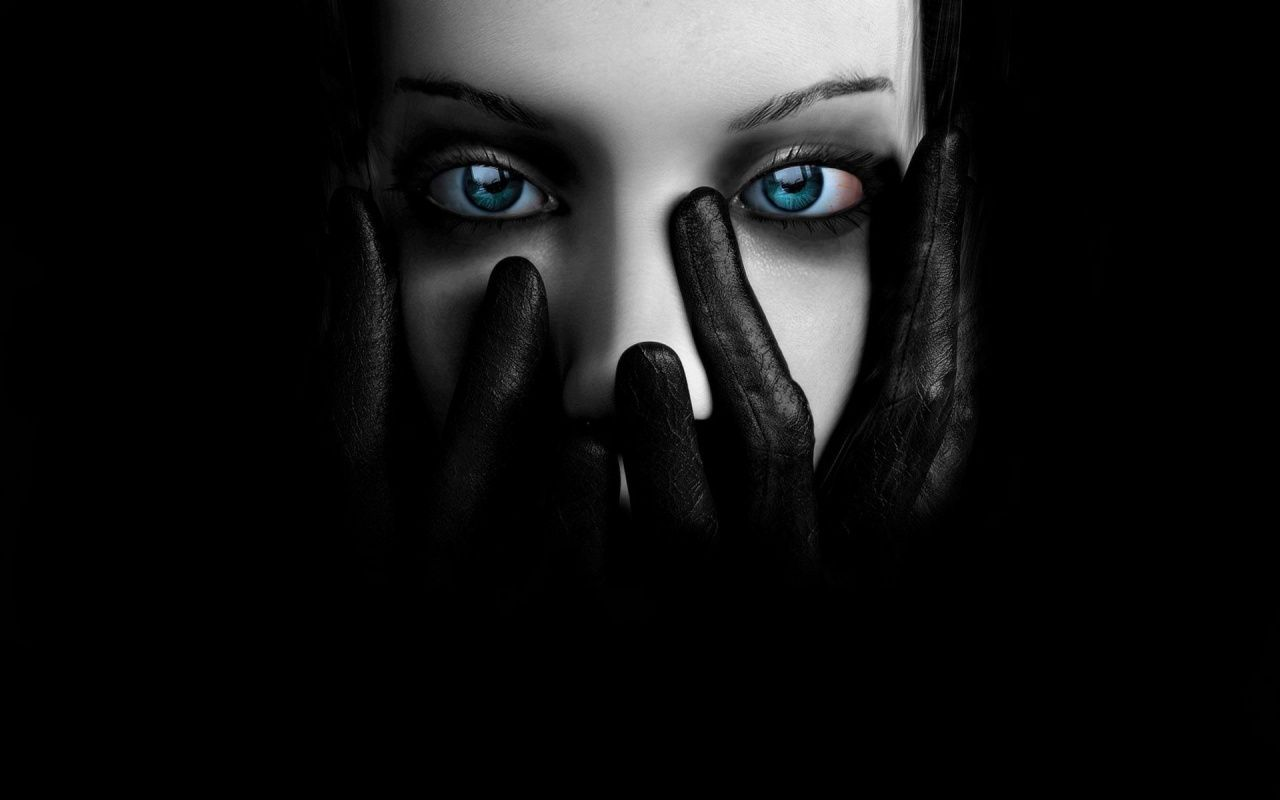 Image Detail For Gloves Blue Eyes Digital Art Women Faces Wallpaper 1280x800 110451 Eyes Wallpaper Black Hd Wallpaper Gothic Wallpaper