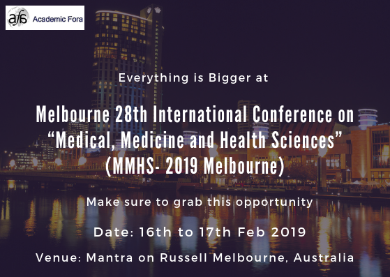 "Melbourne 28th International Conference on ""Medical, Medicine and"