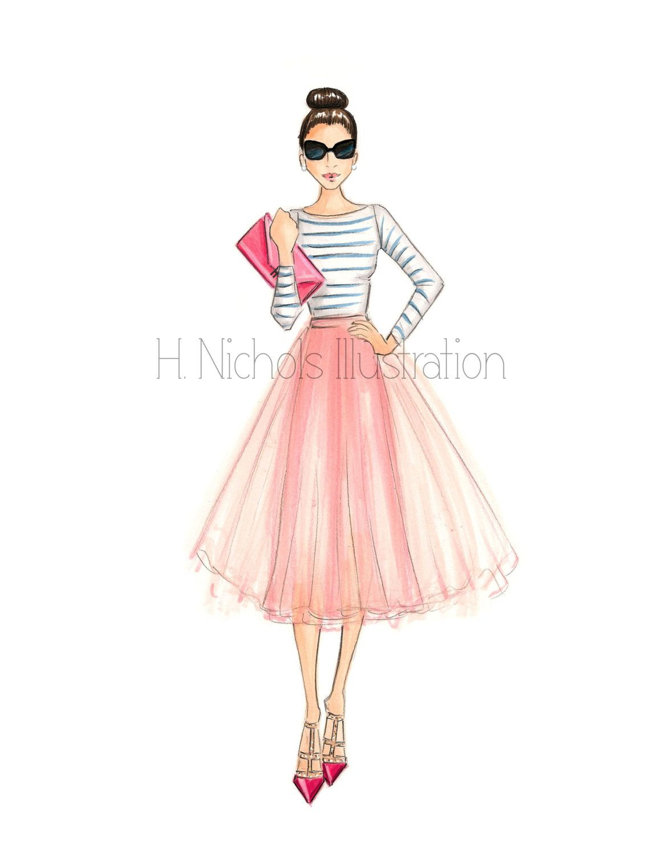 Perfectly Preppy (Fashion Illustration Print)