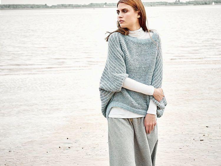 Diy Anleitung Gestreiften Kimono Sweater Tunesisch Häkeln Via