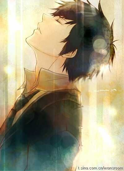Watercolor I Think Portrait Of A Male Anime Manga Character Found On Weheartit Com An Interesting Pose And The Expre Japanese Anime Anime Guys Anime Boy