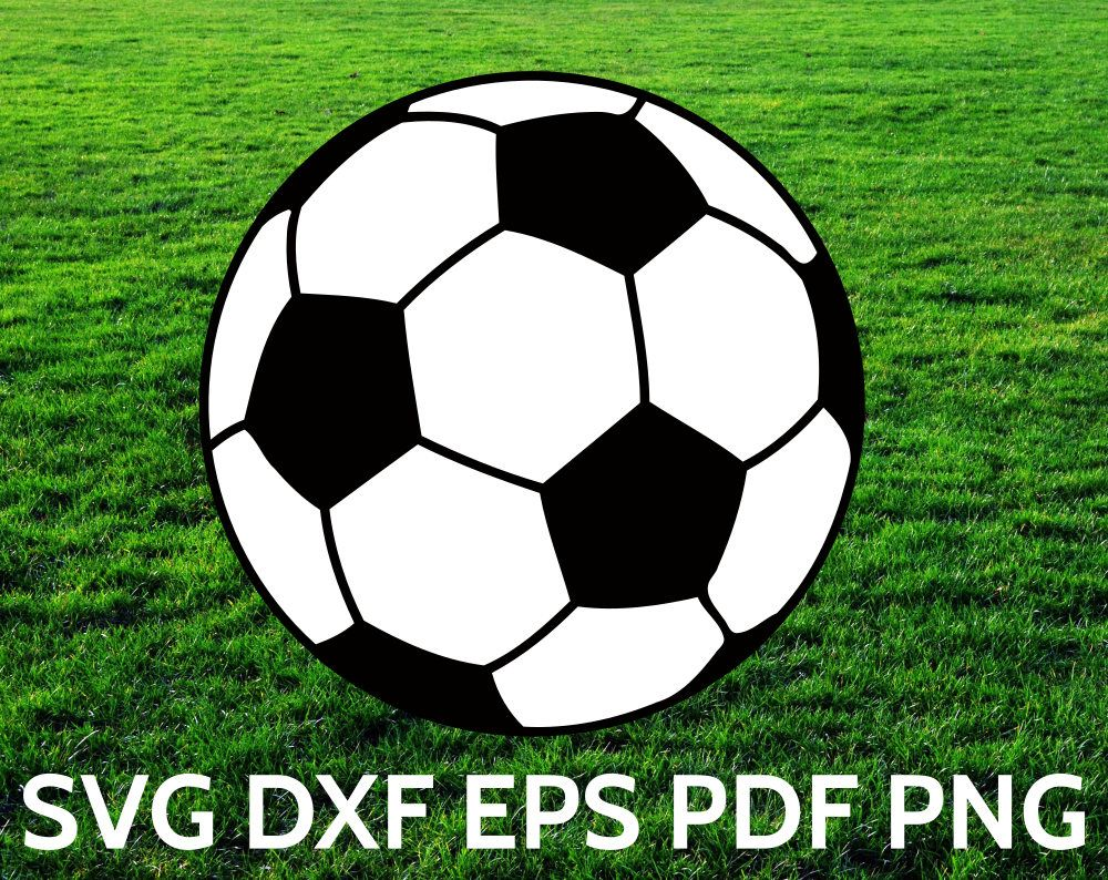 Soccer ball SVG file for Cricut and Silhouette. To make
