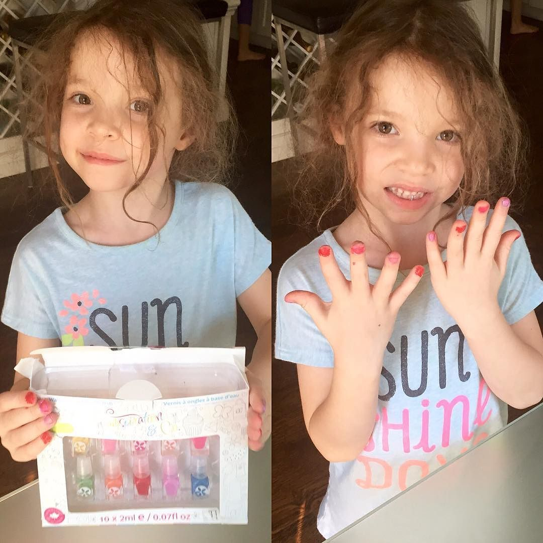 So much fun painting nails with this little cutie thanks to @glamagals #glamspiration non-toxic water-based nail polish  Great for kids! #rainbownails #rainbow #mani #colours #nailpolish #glam #sundayfunday #kidfun #canadianblogger #mommyblogger #canadiangirl #motherdaughter #momresourceca #bossmom #momboss