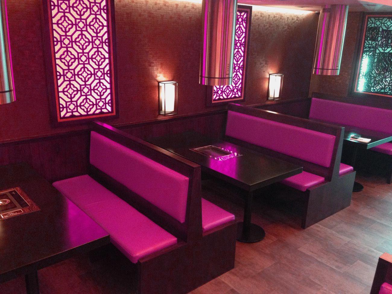 pink color restaurant interior designsmodern interior concepts