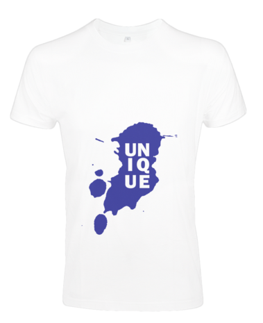 This T-shirt is our own original design, and comes in white. The colour of the unique can either be black, blue, green, grey, orange, pink, purple, red, desert camo, digital camo, urban camo or woodland camo.