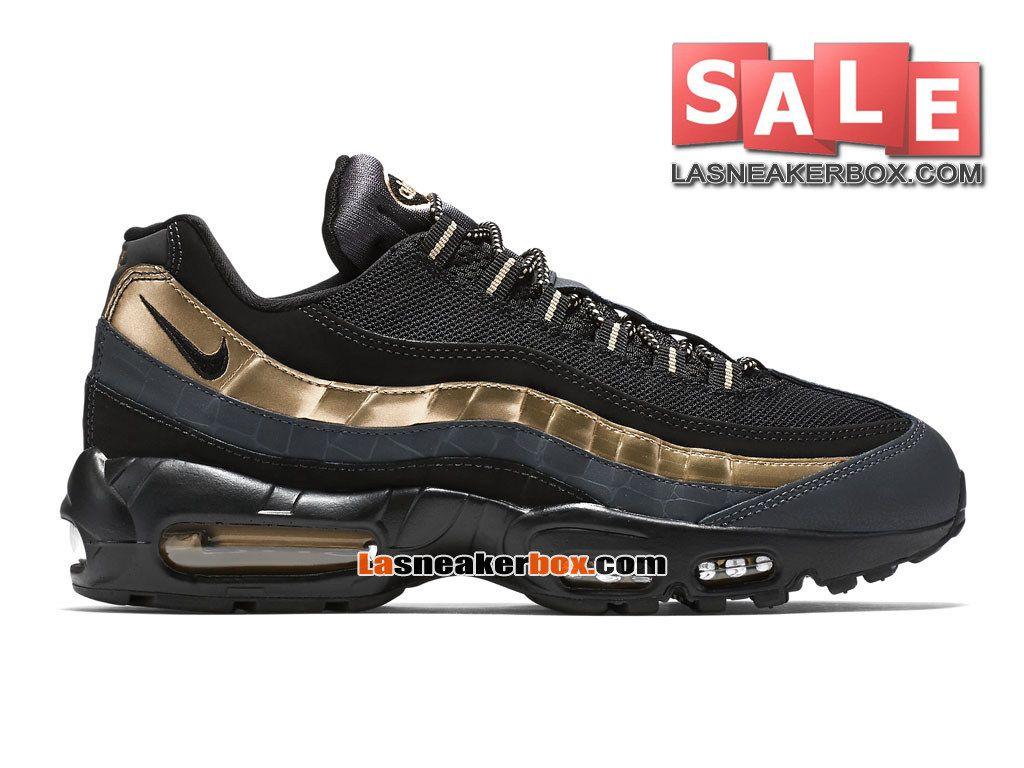 sports shoes 5eb13 c5688 NIKE AIR MAX 95 PREMIUM - NIKE SPORTSWEAR CHAUSSURE PAS CHER POUR HOMME  Noir Or métallique Anthracite Noir 538416-007