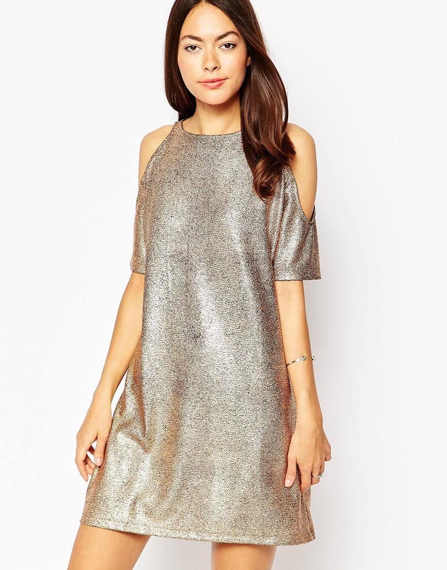 Motel Savannah Dress With Cold Shoulder