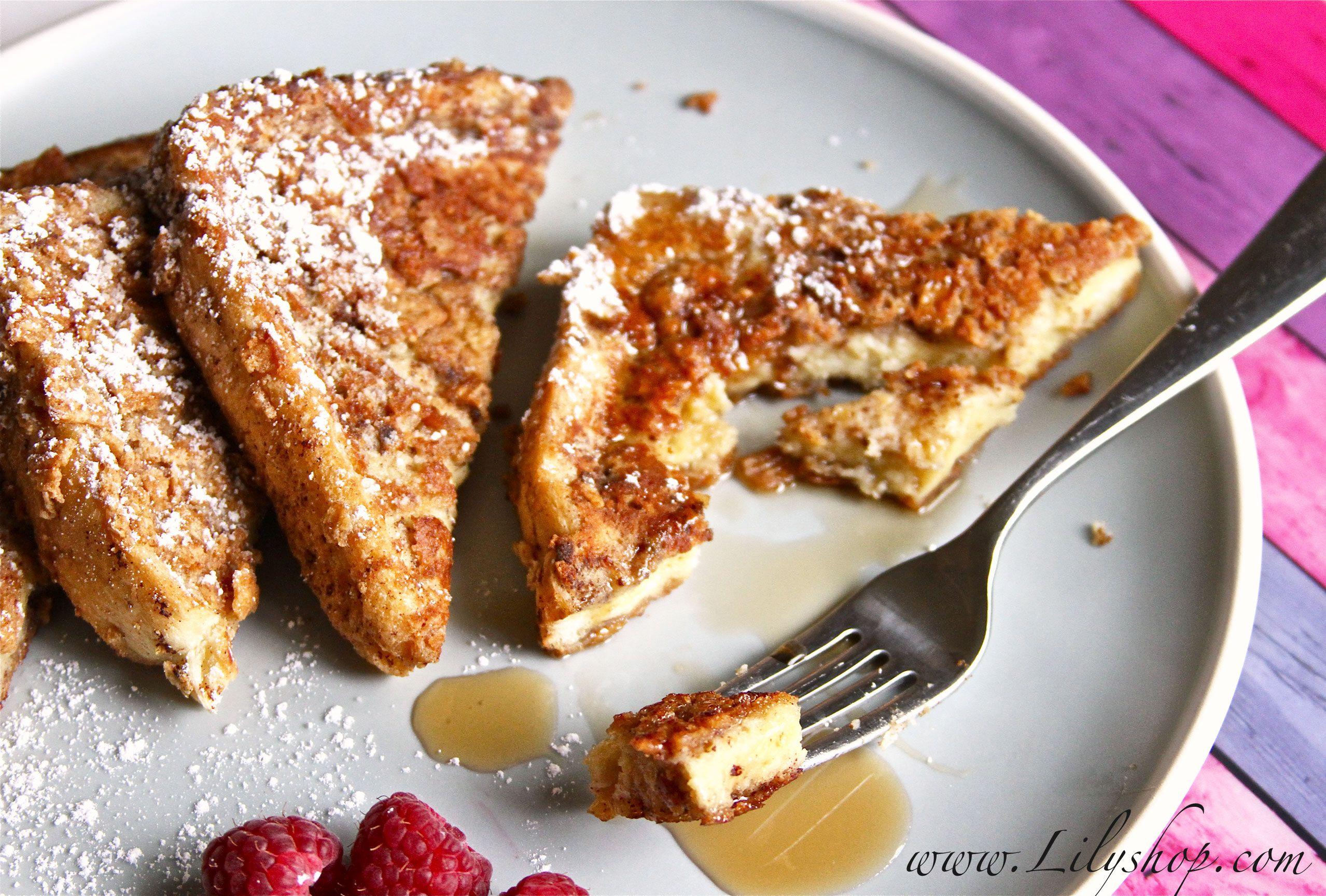 Cinnamon Toast Crunch French Toast!😛 Yummy breakfast