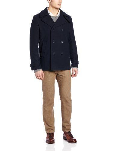 Calvin Klein Men's Wool Melton Peacoat, Solitaire, X-Large Calvin Klein ++You can get best price to buy this with big discount just for you.++