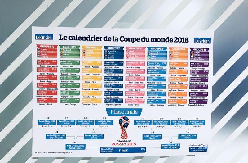 Coupe du monde 2018 le calendrier imprimer sante pinterest coupe du monde le - Calendrier eliminatoire coupe du monde ...
