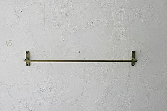 アイアン壁付けタオルハンガー / 45.5cm /アンティークゴールド  販売価格 1,404円(内税)  ひぐらし古具店 1本購入
