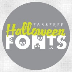 A roundup of fun fonts for crafty Halloween projects.