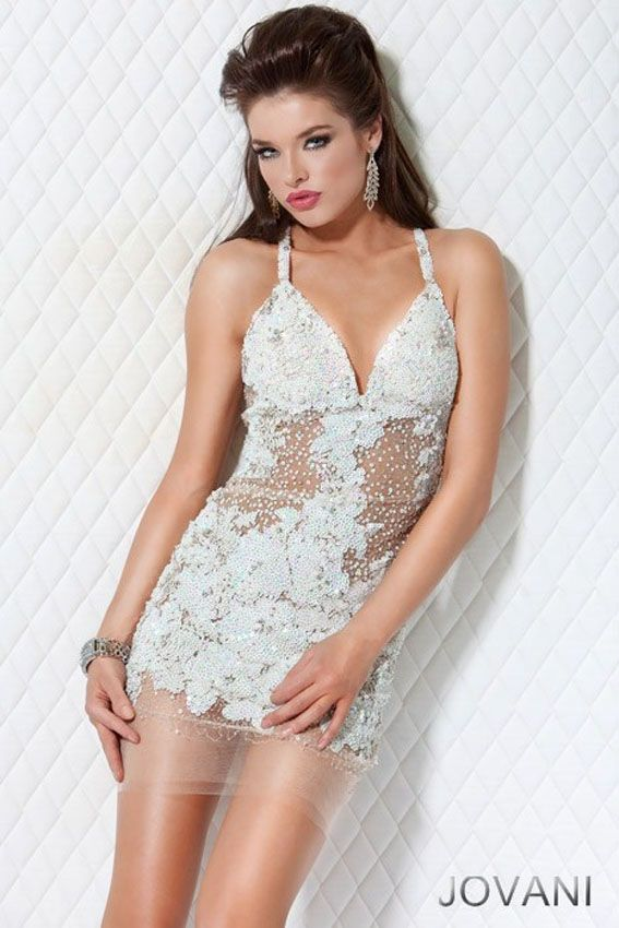 Jovani 14338 available in Black/Nude, Gold/Nude, Pink/Nude, Silver ...