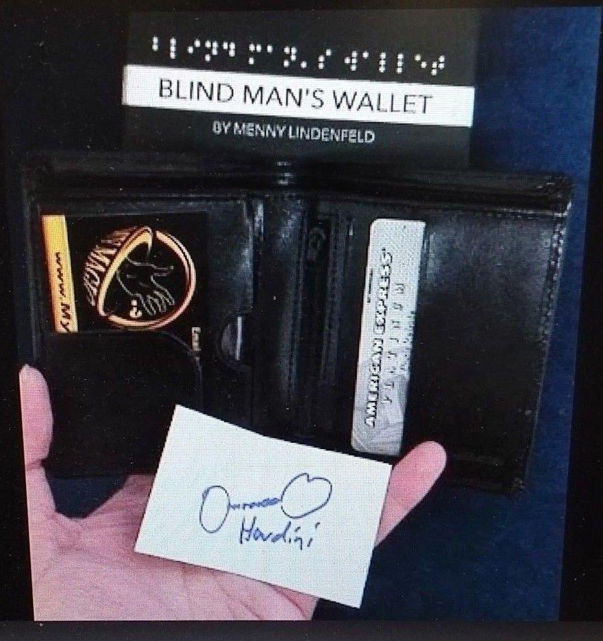 Blind Man S Wallet By Menny Lindenfeld Mentalism Psyhic Mind Reading Magic Trick Wallet Men Magic Tricks Trick