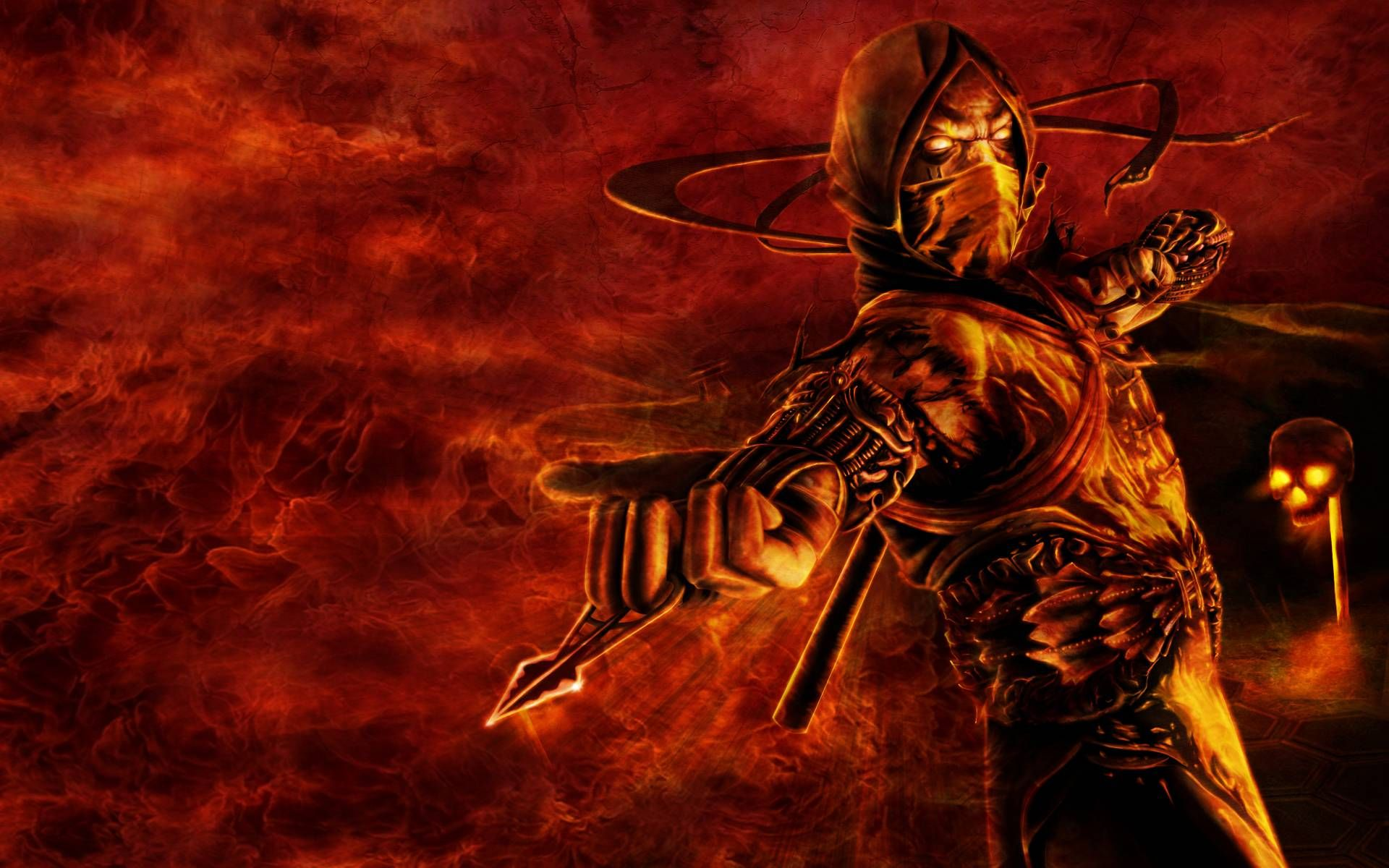 mortal kombat scorpion wallpapers wallpaper 1366×768 scorpion